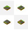 isometric way set of incomplete unilateral vector image vector image
