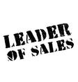 Leader of sales stamp vector image