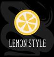 lemon style minimalism yellow kitchen vector image
