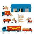 Logistic Related Set vector image