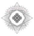 logo geometric oriental arabic pattern element vector image