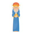 manger wise king gift christianity character vector image vector image