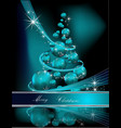 Merry Christmas background silver and blue vector image vector image
