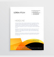 orange and black modern letterhead design vector image vector image