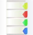 Paper Drop Shadow With Arrow Color graphic eps10 vector image vector image