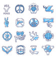 peace peaceful symbol of love and vector image vector image