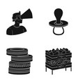 pears trade shop and other web icon in black vector image