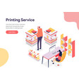 printing service concept isometric design vector image vector image