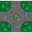 round intersection vector image