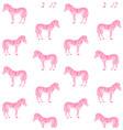 seamless pattern pink hand drawn zebra vector image vector image