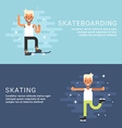 Set of Concept Flat Style Sport Male Cartoon vector image vector image