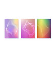 set of covers abstract shapes with turbulent vector image