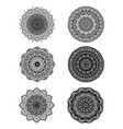 set of mandalas for decorative round ornaments vector image vector image