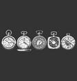 set pocket watches vector image vector image