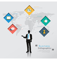 Silhouette people Modern infographic for business vector image vector image