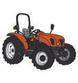 Small tractor vector image