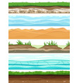 soil layers campo ground surface land grass dried vector image