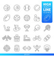 sports and games high quality trendy line icons vector image vector image