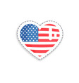 sticker in form of heart vector image vector image