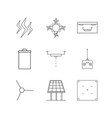 technology linear icon set simple outline icons vector image