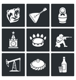 This is Russia Icons Set vector image vector image