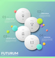 vertical timeline four separate staggered round vector image vector image