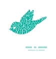 white on green alphabet letters bird silhouette vector image vector image