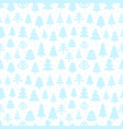 winter forest seamless vector pattern vector image