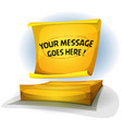 yellow post-it note sign vector image