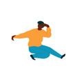 young african american man dancing male dancer vector image vector image