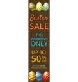 easter sale web banner vector image