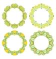 Set of decorative round frames vector image