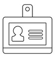 badge office icon outline line style vector image