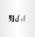 letter d black logo icon set vector image