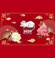 2020 year rat vector image vector image