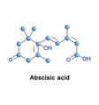 abscisic acid is a plant hormone vector image