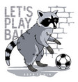 athletic raccoon 002 vector image vector image