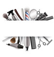 barbershop frame with barber tools vector image