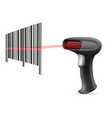 barcode scanner stock vector image