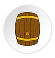 Barrel of beer icon cartoon style vector image vector image