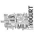 Best recipes yogurt text word cloud concept