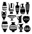 black and white ceramic bowls vector image vector image