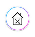 black house or home with screwdriver and wrench vector image vector image