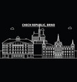 brno silhouette skyline czech republic - brno vector image