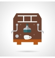 Brown coffee maker flat icon vector image vector image