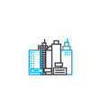 building of high rises thin line stroke vector image