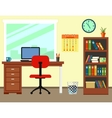 business office or home workplace vector image