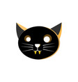 cat head character design vector image vector image