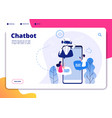 chatbot robotics chatterbot smart robotical vector image vector image