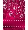 Christmas balls over green bokeh EPS 8 vector image vector image
